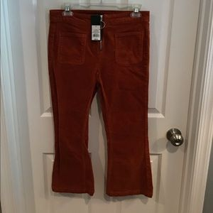 Girls Burnt Orange Corduroy Pants